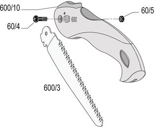 FELCO 600 Folding Pull-Stroke Pruning Saw – Blade 16 cm (6.3 in.)