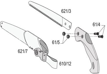 FELCO 621 Pull-Stroke Pruning Saw – Blade 24 cm (9.5 in.)